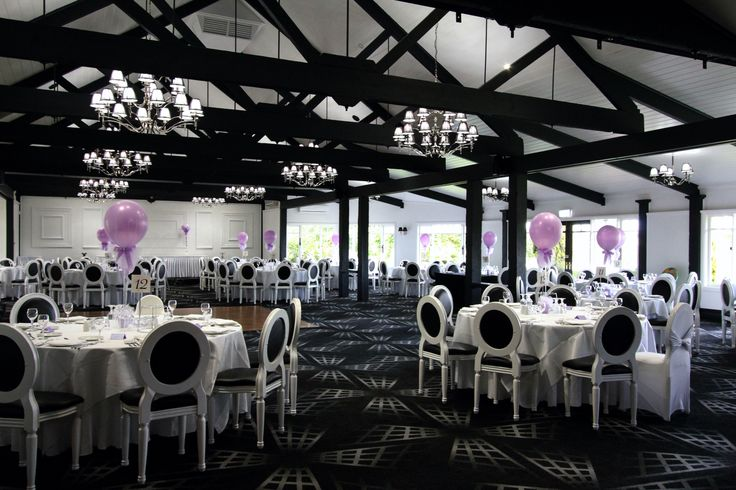 Add an colour theme to our stunning black & white dining room for your event