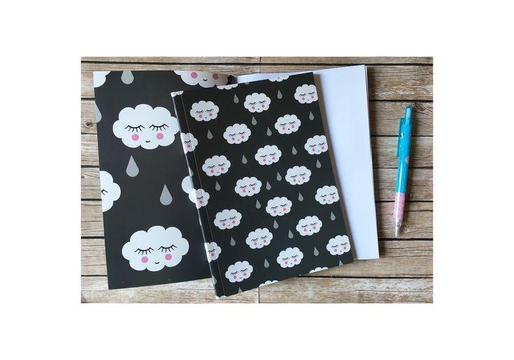 Libretas y cuadernos con diseños de nubes. www.smartyfun.es