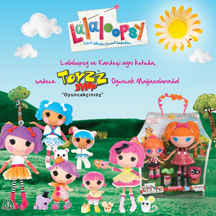 Lalaloopsy ve kardeşini gördünüz mü? Düğme gözleri, farklı tarzları ve renkli dünyaları ile kızların vazgeçilmezi Lalaloopsy ve kardeşi aynı kutuda sadece Toyzz Shop'ta!