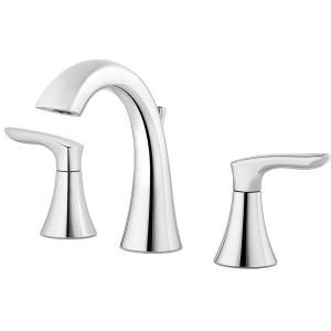 Pfister Ladera 8 In Widespread 2 Handle Bathroom Faucet In Polished Chrome Lf 049 Lrcc The Widespread Bathroom Faucet Bathroom Faucets Bathroom Sink Faucets
