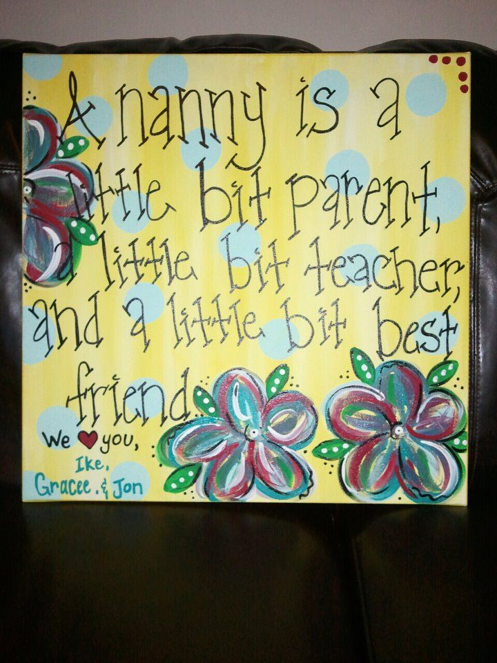 "A Christmas gift made for ""Nanny"""