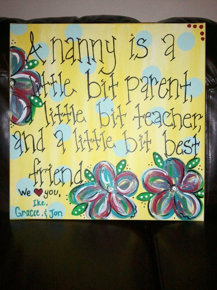 "A Christmas gift made for ""Nanny"""