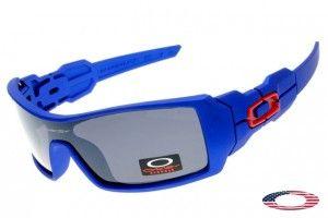 Fake Oakley Oil Rig Sunglasses Blue / Gray