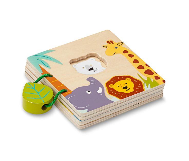 149 Kč Objevování světa zvířat hravým způsobem: Obrázková knížka ze dřeva s certifikátem FSC® má čtyři strany se zaoblenými rohy a její velikost dokonale padne do dětských ruček. Tak mohou děti udělat první krůčky do světa lvů, slonů apod.