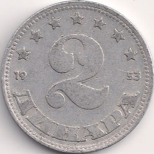 Wertseite: Münze-Europa-Südosteuropa-Jugoslawien-Dinar-2.00-1953