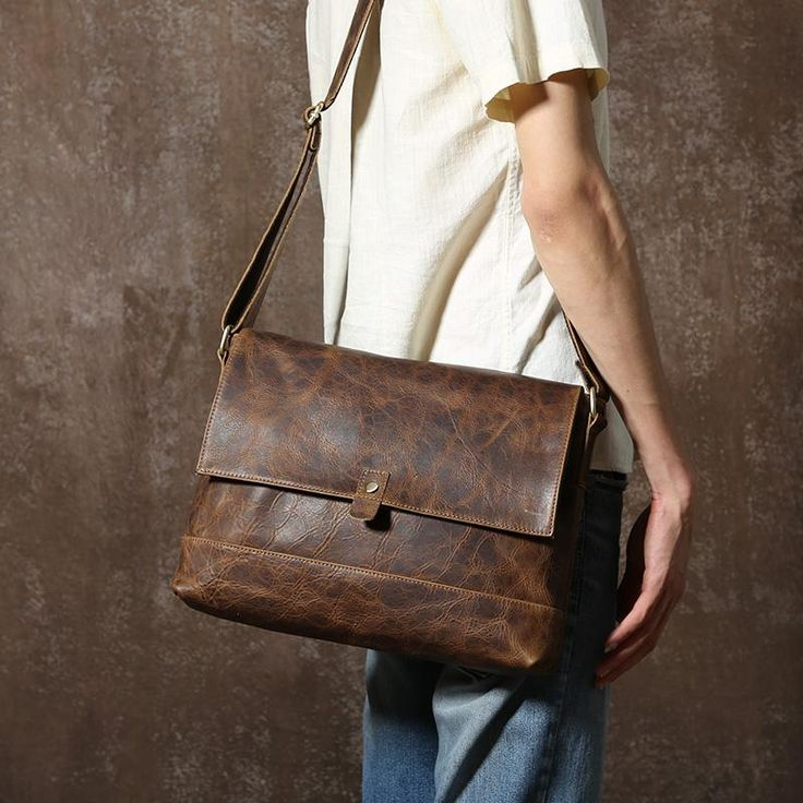 Handmade Leather Messenger Bag, Crossboday Bag, Messenger Bag GLT073