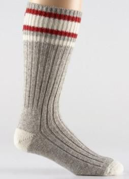 Stanfield's Wool Work Socks with 3 x 1 ribbed leg socks  Double knit heel…