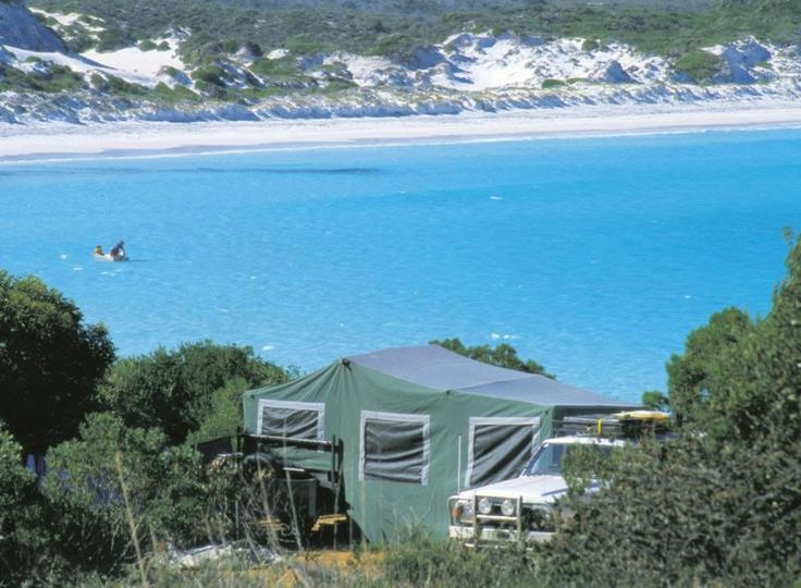 Lucky Bay Camground in Cape Le Grand National Park, Western Australia.