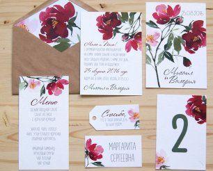 Яркая полиграфия для летней свадьбы Михаила и Валерии