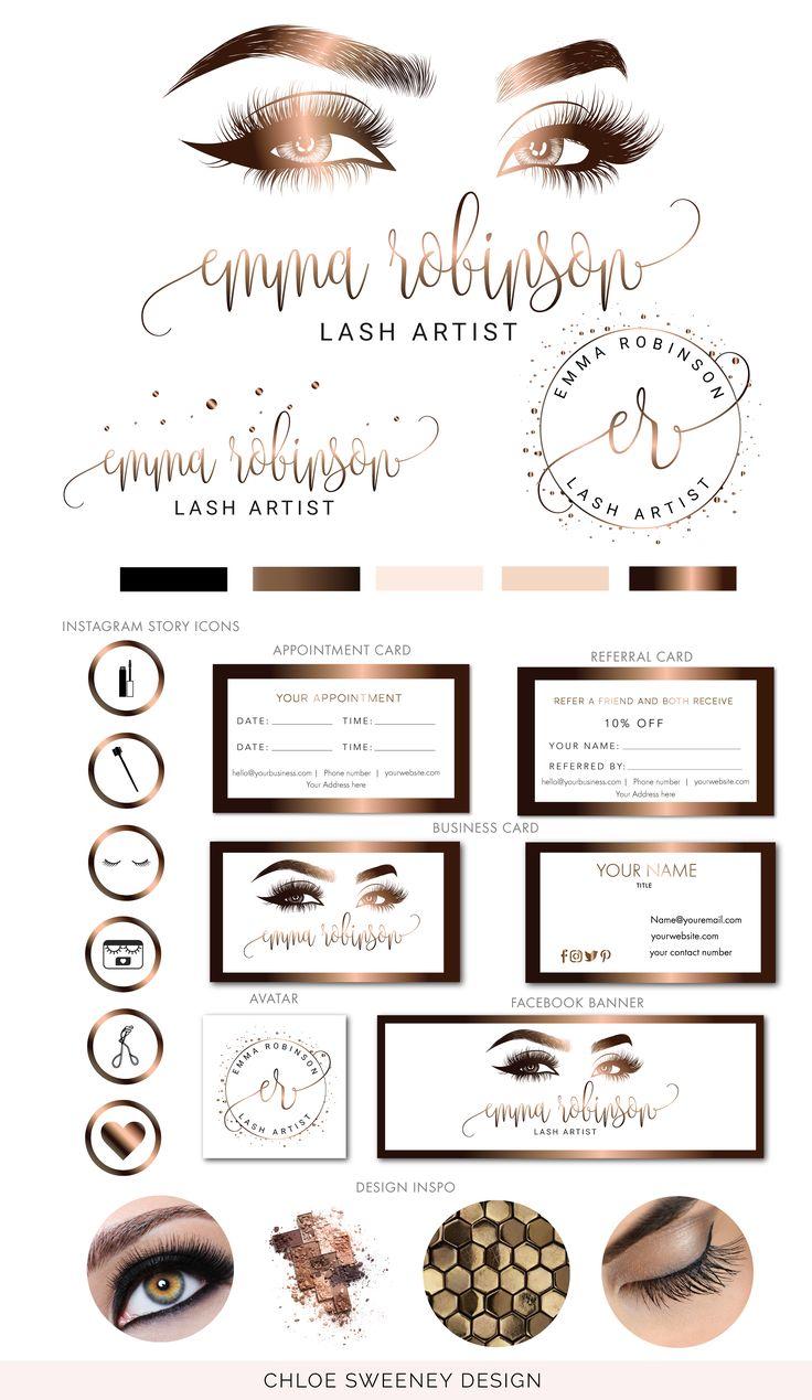 Lash Logo, Lash Extension Logo, Lashes Logo, Brow Logo, Eyelash Logo Design, Bronze Logo, Instant Download, Logo template