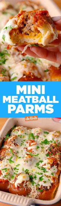 These Mini Meatball Parms will disappear in minutes. Get the recipe from Delish.com.