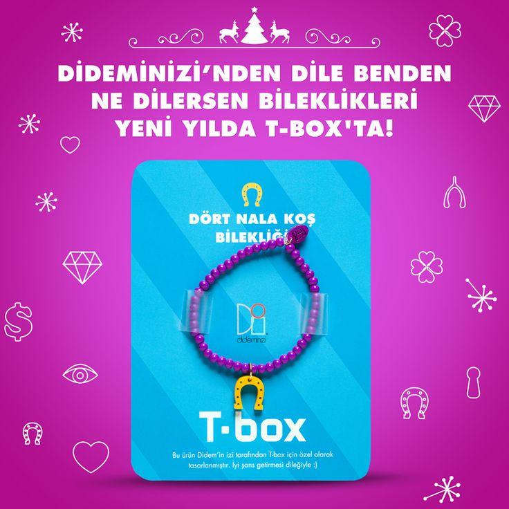"""Didemin İzi for T-box! Yeni yılda """"dört nala koş"""" bilekliği #dideminizi #dideminizifortbox #aksesuar #bileklik"""