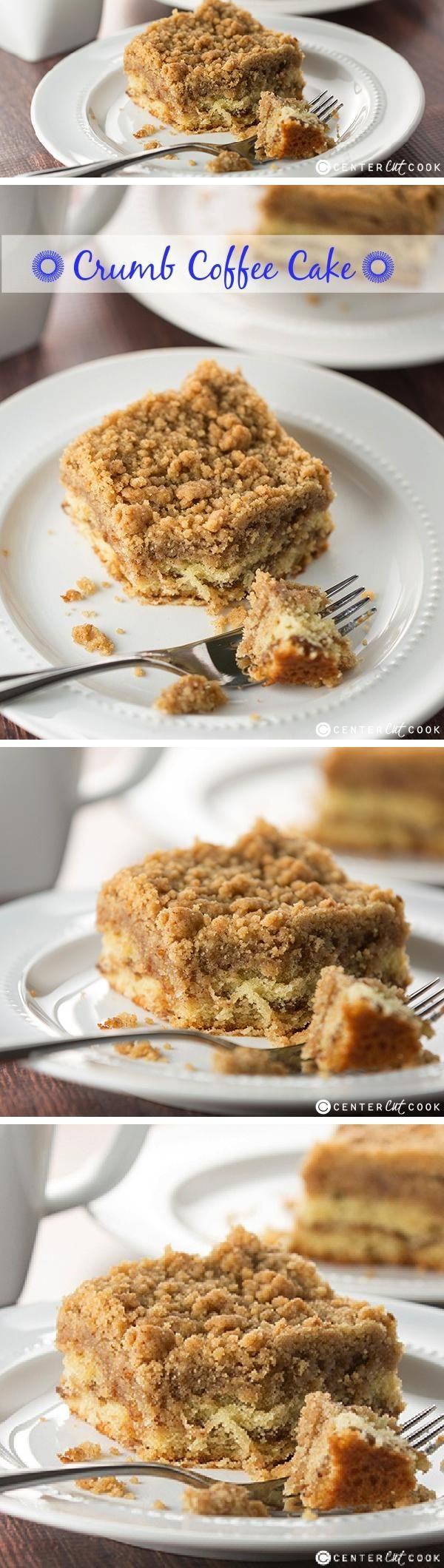 This ultra CRUMBLY Crumb COFFEE CAKE recipe is buttery with cinnamon and loaded with crumbles! It's everything that a crumb coffee cake should be!