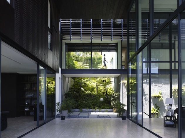 Singaporean Architectural Firm Aamer Architects Have Designed The Queen  Astrid Park House. This Large Contemporary Home Is Made Up Of Several  Volumes, ...