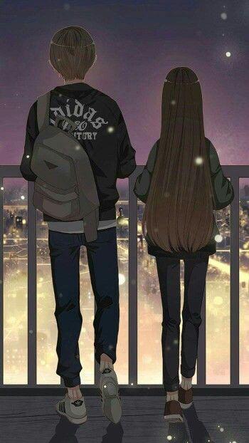 Ты рядом, хоть и просто стоишь #Пара #Любовь #ночь #город #рисунок #история #душевно