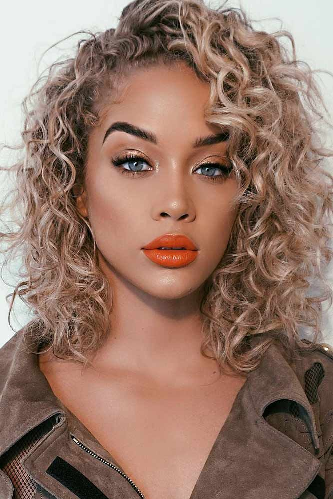 50 Hairstyles For Curly Hair For A Cute Look Lovehairstyles Com Shoulder Length Curly Hair Curly Hair Styles Curly Hair Styles Naturally