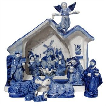 Delft blue nativity set - I want!!