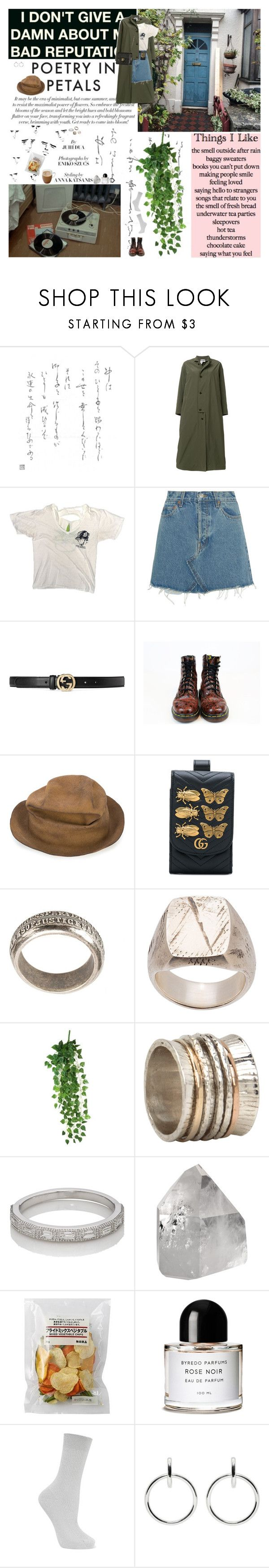 """Music: Y la Bamba – Moral Panic"" by azaliya ❤ liked on Polyvore featuring Aspesi, RE/DONE, Gucci, Dr. Martens, Horisaki, Fraiche, Tobias Wistisen, Werkstatt:München, MeditationRings and My Story"