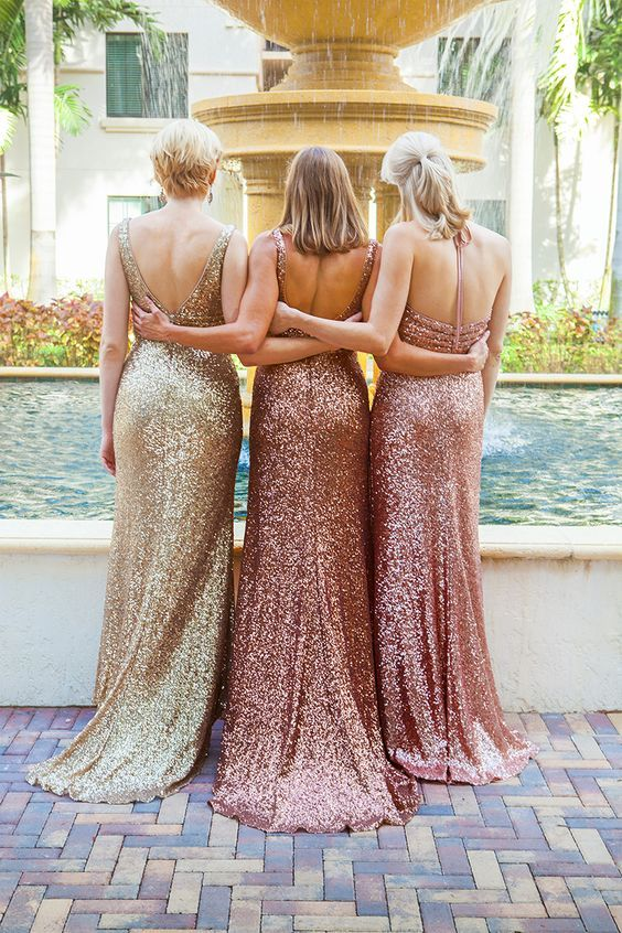Sequin dresses from the Sapphire by Alfred Angelo Collection