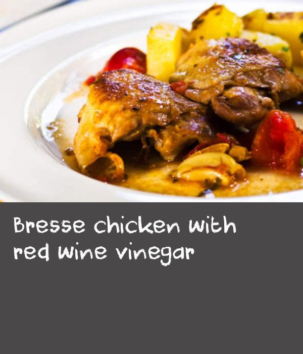 Bresse chicken with red wine vinegar | A little jewel of French family cuisine. Again the success of this recipe depends very much on the quality of the ingredients. Try to choose free-range or organic chicken and also a good red wine vinegar, the best I've found was red wine cabernet sauvignon vinegar from Waitrose. The cooking time will depend entirely on the sourcing of the chicken, factory produced will take 15–20 minutes, free-range/organic 30–40 minutes. Planning ahead: The dish can…