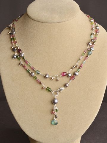 Wildflower Tourmaline Lariat