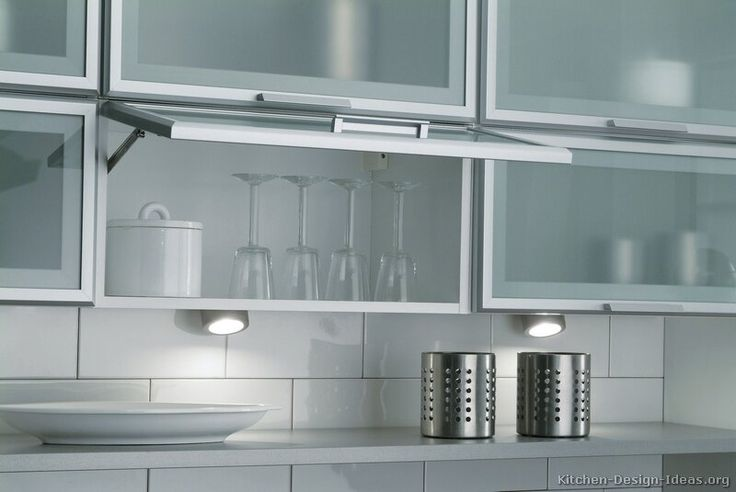Innovative Kitchen Glass Cabinet Doors Model