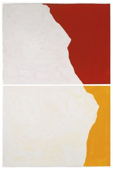 Sol LeWitt, DIPTYCH WITH IRREGULAR SHAPES, ON TWO DIFFERENT COLORS