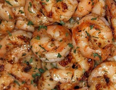 Ruth's Chris BBQ Shrimp. Wowzers. It only calls for 1 lb. of butter. That's all. So I'm making it. HAAAAA. I love BBQ shrimp. Served over rice with warm, crusty, French bread? Shut the front door!