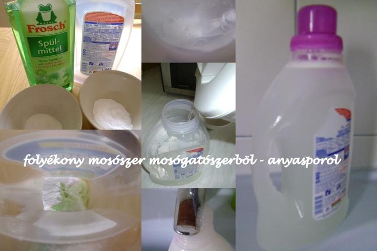 folyékony mosószer 2 mosógatószerből anyasporol