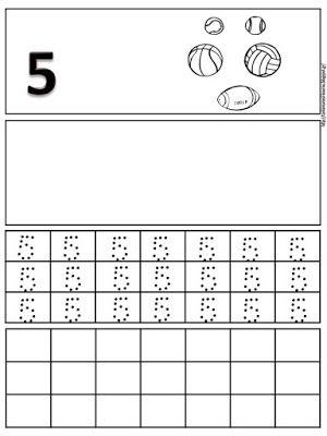 Δραστηριότητες, παιδαγωγικό και εποπτικό υλικό για το Νηπιαγωγείο & το Δημοτικό: Φύλλα εργασίας γραφής για τους αριθμούς 1 έως 10