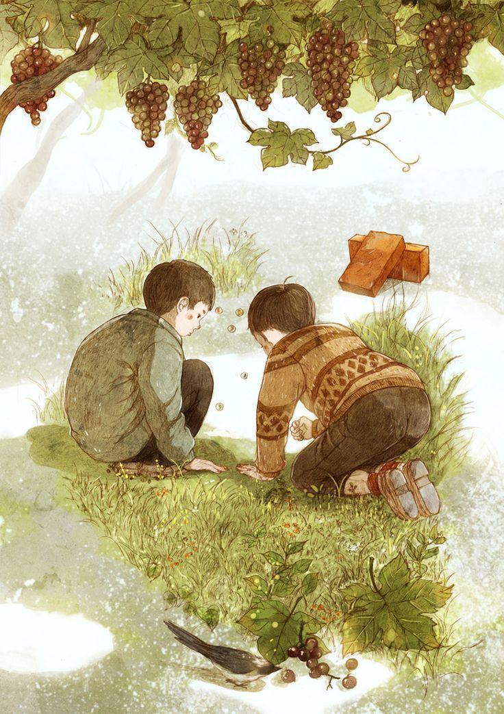 《童年·游戏》-starry阿星__涂鸦王国插画