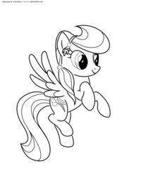 Пони Радуга - скачать и распечатать раскраску. Раскраска ...