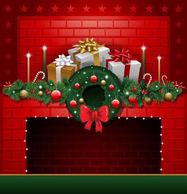 CHRISTMAS FIREPLACE *