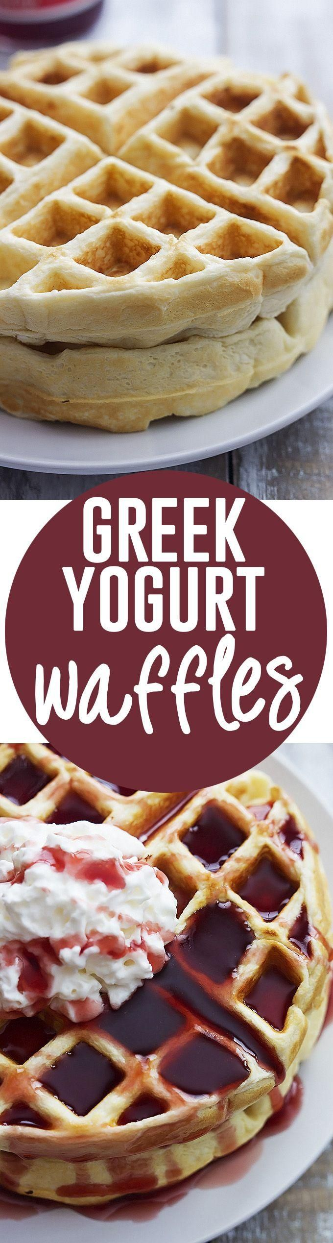 Greek Yogurt Waffles   Creme de la Crumb
