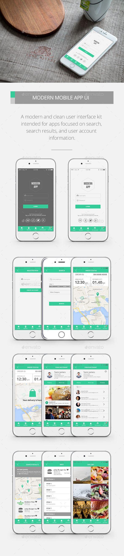Modern Mobile App UI Kit Template #psd #userinterface Download: http://graphicriver.net/item/modern-mobile-app-ui-kit/10255374?ref=ksioks