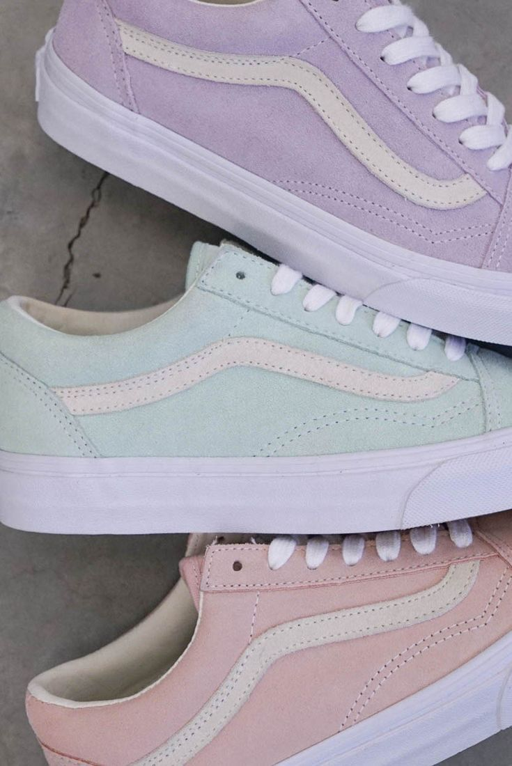 Love these pastel vans for spring and summer.