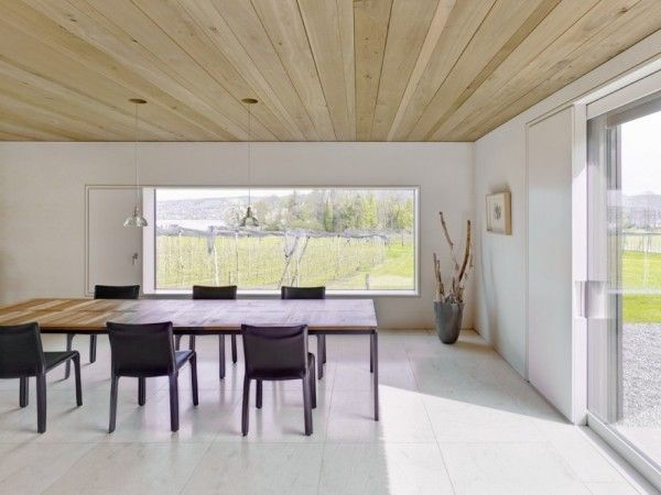 Dinning Room Design from Modern Minimalist House with Amazing Surrounding in Winterthur Switzerland 600x450 Modern Minimalist House with Amazing Surrounding in Winterthur, Switzerland