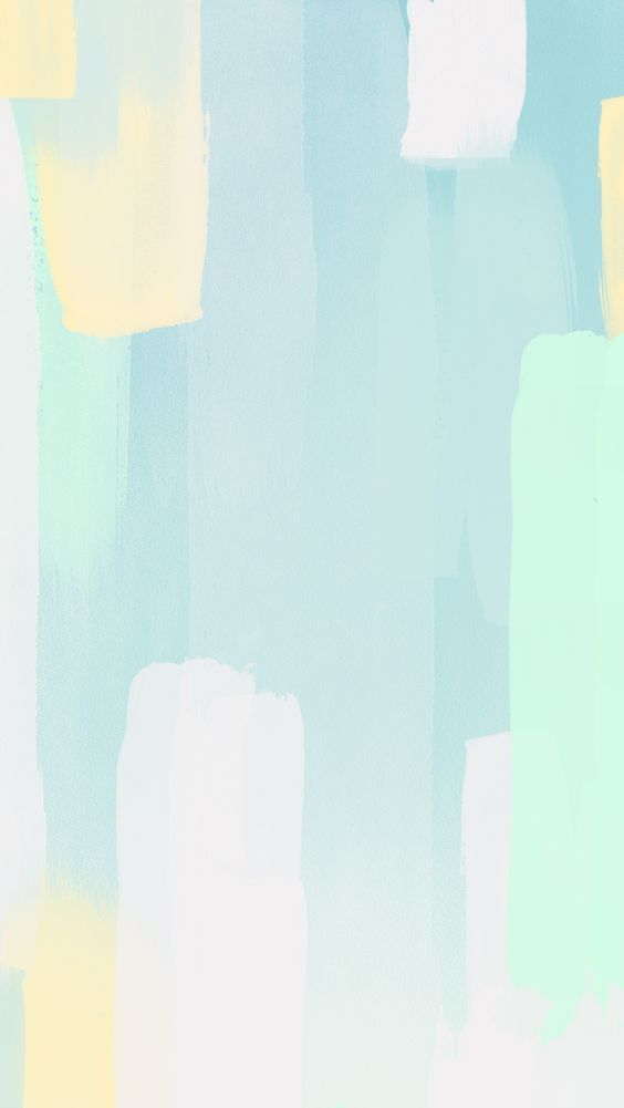 Pastel aqua mint white yellow paint brushstrokes iphone wallpaper phone backgrou...