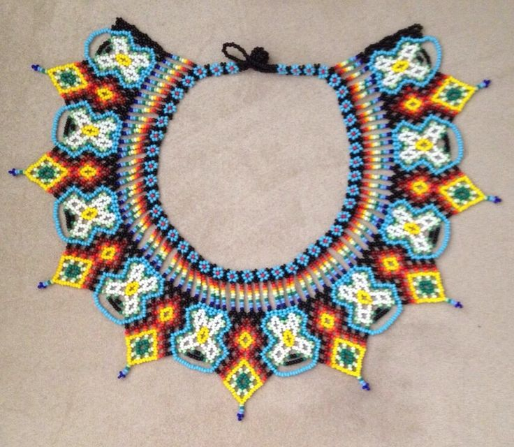 Beautiful beaded necklace made by the Colombian tribe Embera Chami
