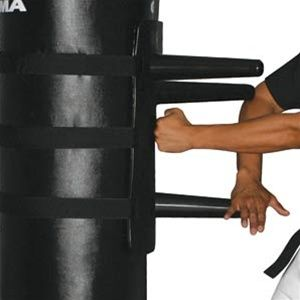 Wing Chun Attachmate... straps to any free standing(Wave Master) or hanging heavy bag, for Wing Chun blocking and striking techniques.