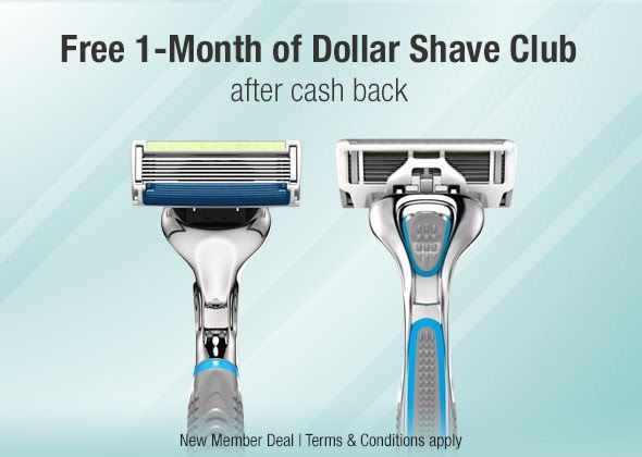 ★★★ 🅽🅴🆆 ★★★ FREE 1 Month of Dollar Shave Club! 💰:   Spend $5.00 or more on any Dollar Shave Club Starter Set via the custom TopCashback…