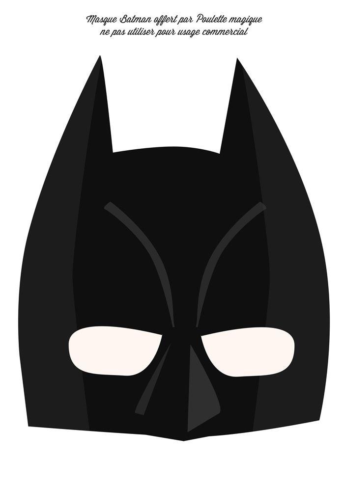 La Batman's week #4 le masque à télécharger   Poulette Magique