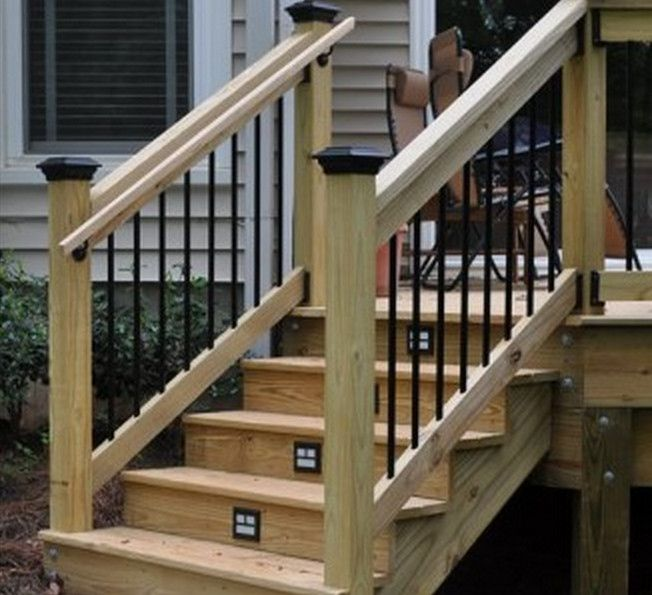 Outdoor stair railing height 3 pinterest outdoor stairs stair railing and outdoor - Things consider installing balcony home ...