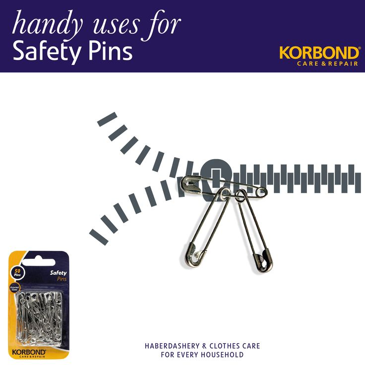 Don't you just hate it when the zipper puller breaks on your favourite boots or pair of jeans?   There are 100 handy uses for Safety Pins! Using a Safety Pin as a zipper puller is just one...  Pick-up-a-pack of Korbond Safety Pins at #RobertDyas #Dunelm #Morrisons #WHSmiths #Waitrose #Wilkos #Sainsburys #Tescos or online at #Ocado or #Amazon