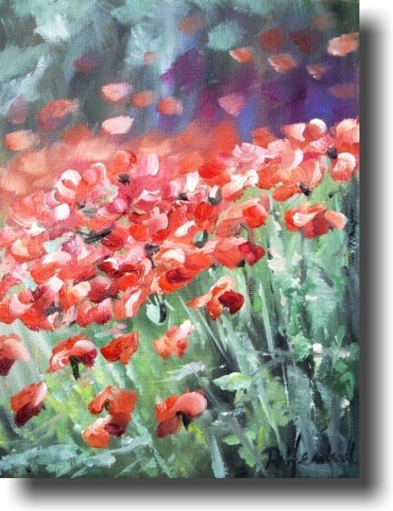 Mohn impression, oil on canvas, 18x24 cm,  $ 140
