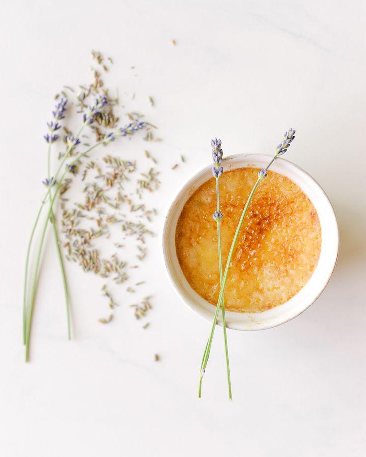 Lavender Creme Brulee Dessert Recipe | Plated desserts | Pinterest
