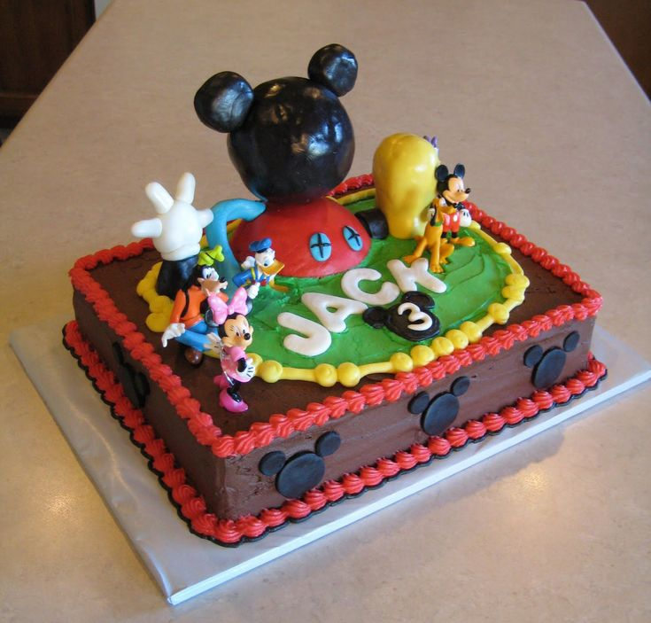 Mickey Mouse Cake – Decoration Ideas | Little Birthday Cakes