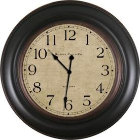 allen   roth 30-in Vienna Brown Clock for over fireplace $49.98