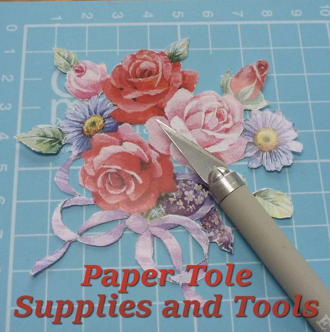 Paper Tole Papier Tole 3D Decoupage craft supplies and tools