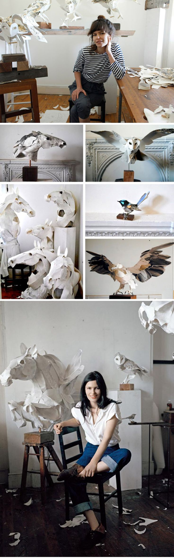 Paper Sculptures Anna-Wili Highfield and some of her beautiful creations #paper